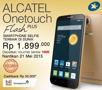 Lazada Indonesia Menawarkan Smartphone Selfie Alcatel One Touch Flash Plus