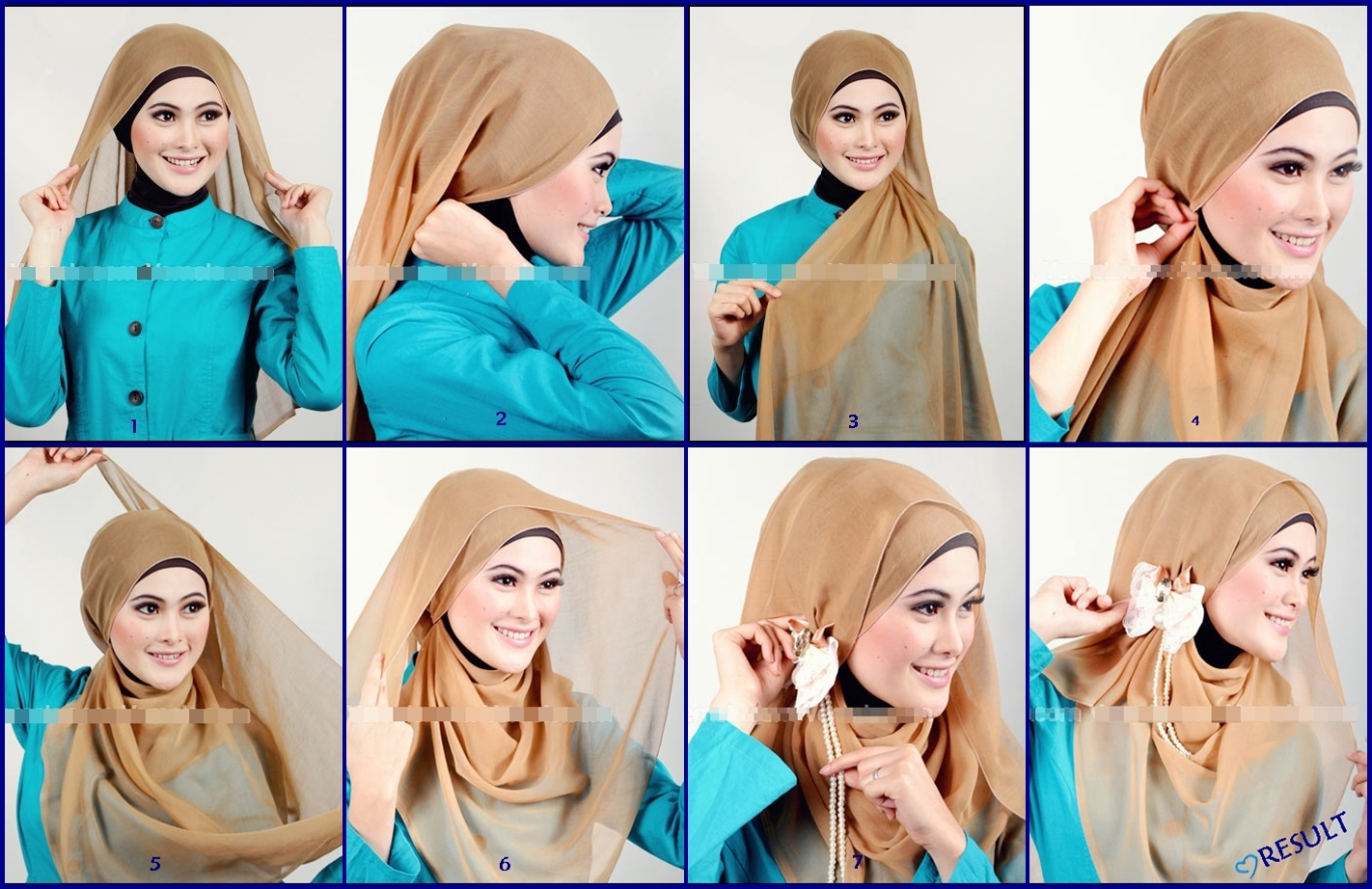 cara memasang jilbab