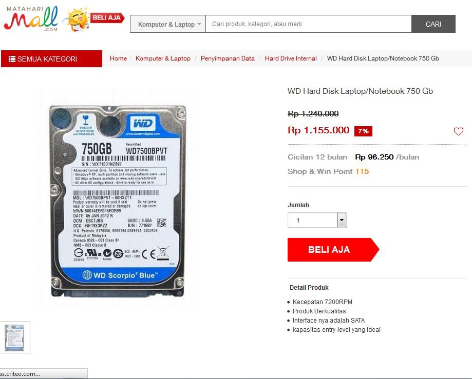 hardisk eksternal murah